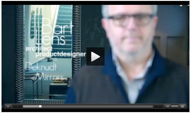 Bart Lens ontwerpt spiegel voor Deknudt Mirrors