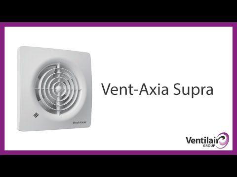 Vent-Axia Supra, krachtige en stille badkamerventilator voor wand en plafond