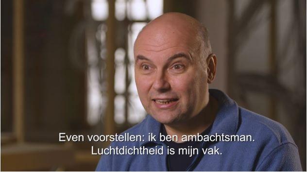 Daniel De Vroey sur l'étanchéité à l'air
