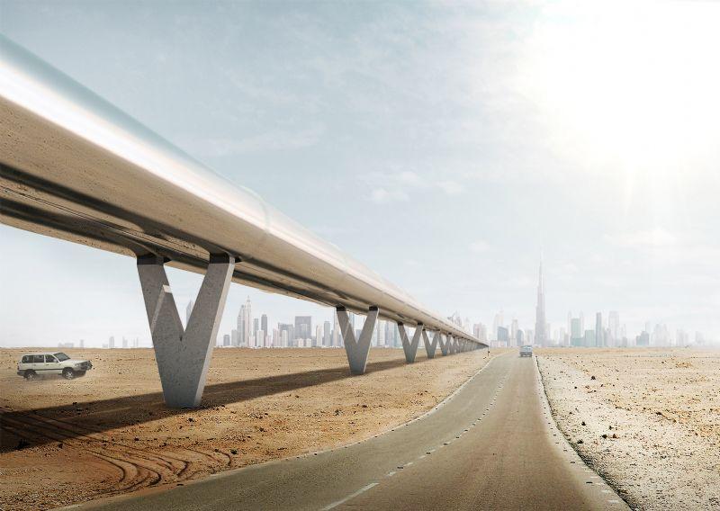 Hyperloop van BIG: supersonisch reizen