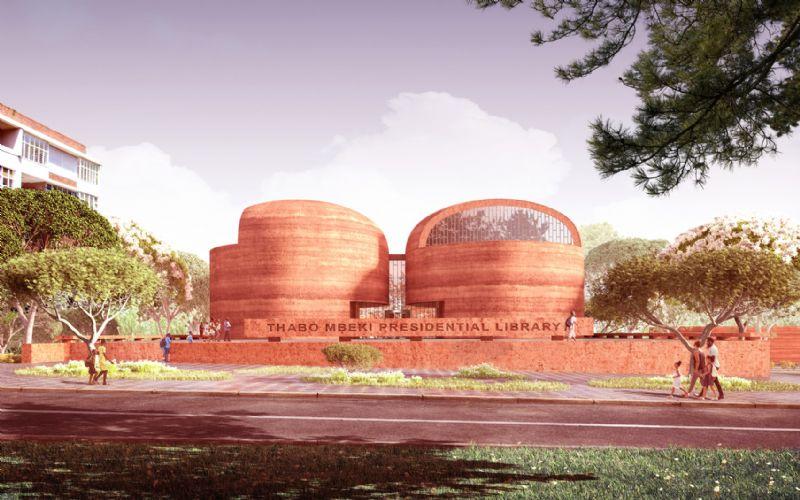 Adjaye Associates bouwt bibliotheek uit 'rammed earth' in Zuid-Afrika