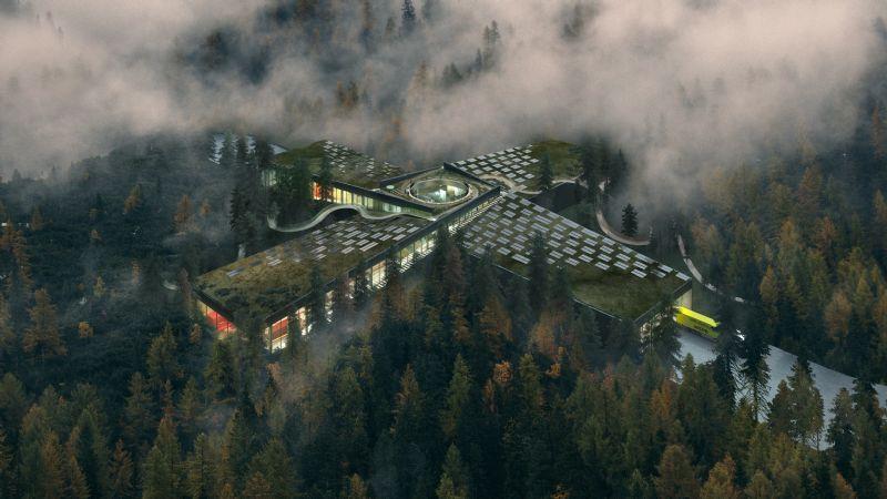 BIG ontwerpt groene meubelfabriek midden in Noorse bossen