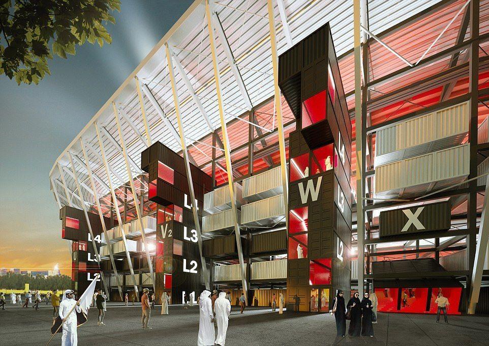Un stade de football entièrement démontable