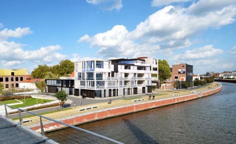 17 appartementen aan het water in Kortrijk