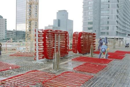 Rehau betonkernactivering dankzij PE-Xa kunststofbuizen