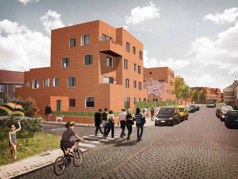 De appartementsgebouwen vervangen de ondertussen gesloopte gebouwen.
