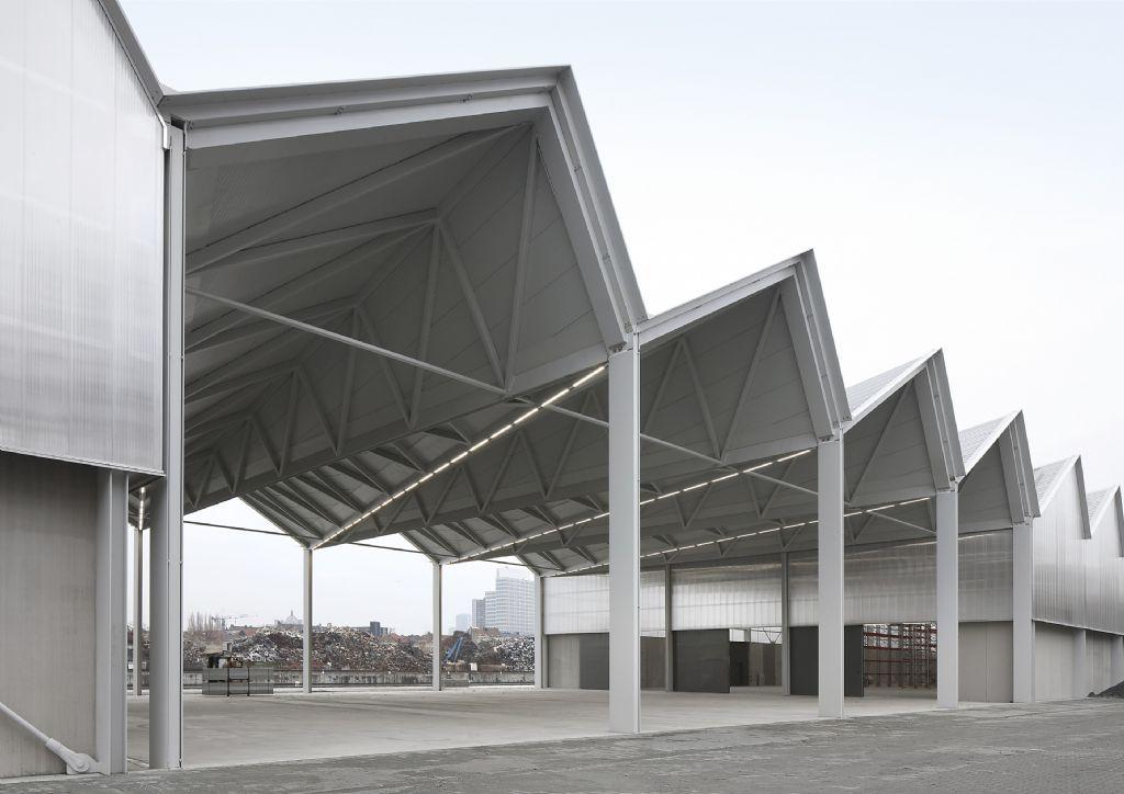 Het bouwmaterialendorp in Brussel
