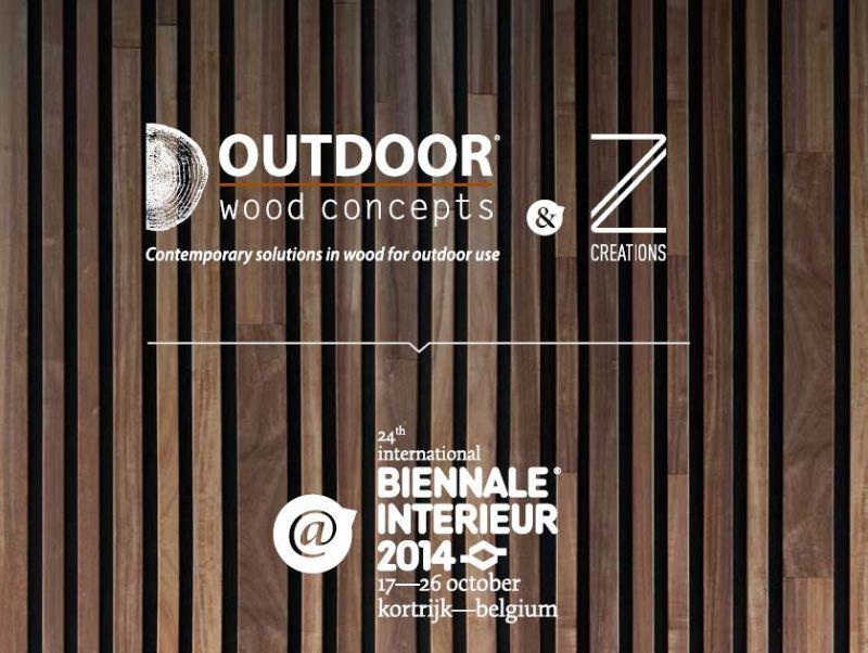 Outdoor Wood Concepts en Z-Creations samen op INTERIEUR 2014