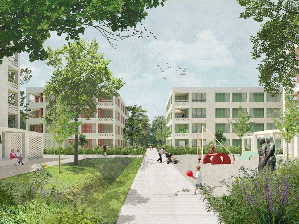 BOGDAN & VAN BROECK en Shift architecture urbanism winnen ontwerpwedstrijd voor Veld 15a van Rozemaai in Antwerpen