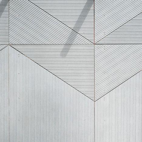 Een close-up van het gekozen materiaal (buitenkant).