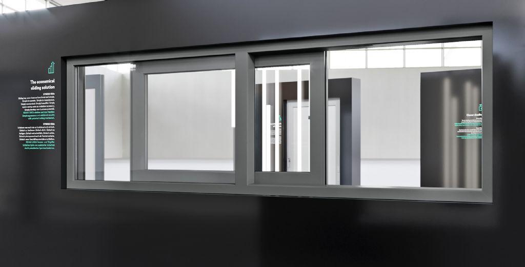 Het schuifsysteem SYNEGO SLIDE is elegant, plaatsbesparend en voordelig – ook in de raamvariant.
