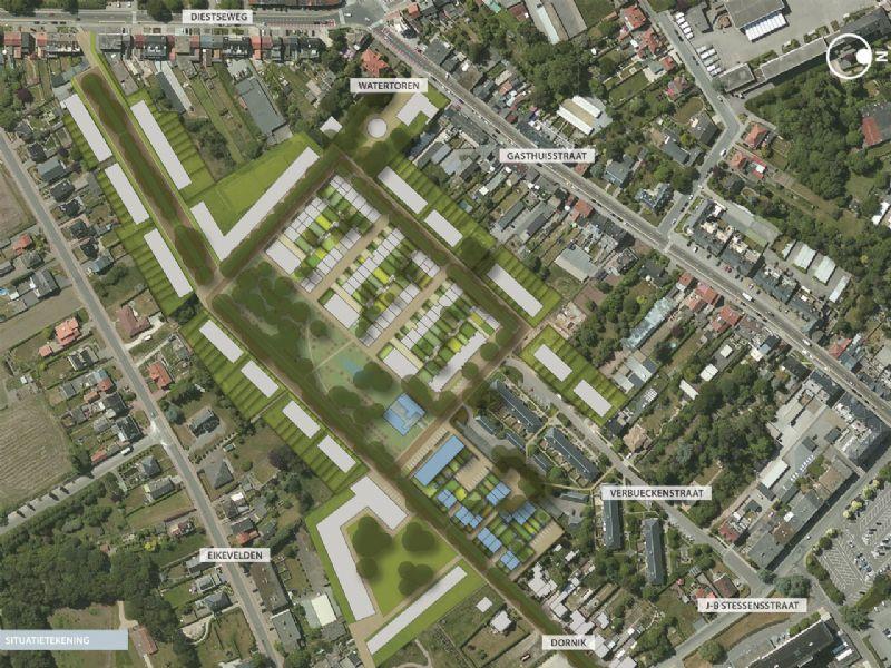 Situatieplan van Wijdbosch Zone 2, Geel.