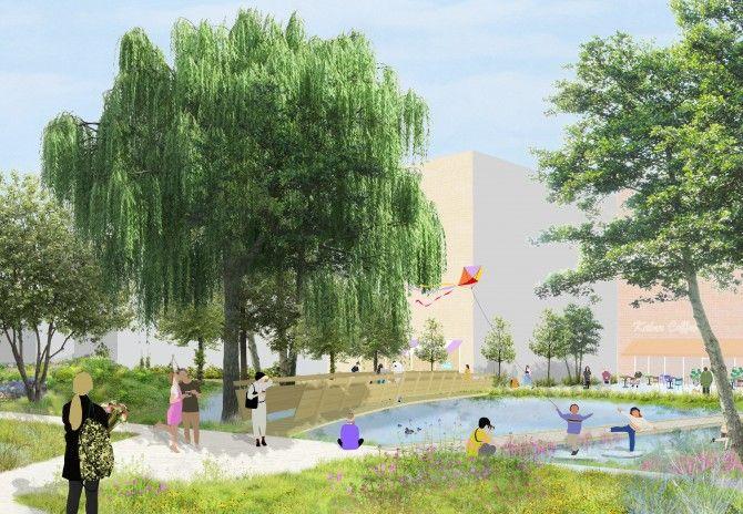 Een toekomstbeeld van het Kalverpad in de Slachthuiswijk