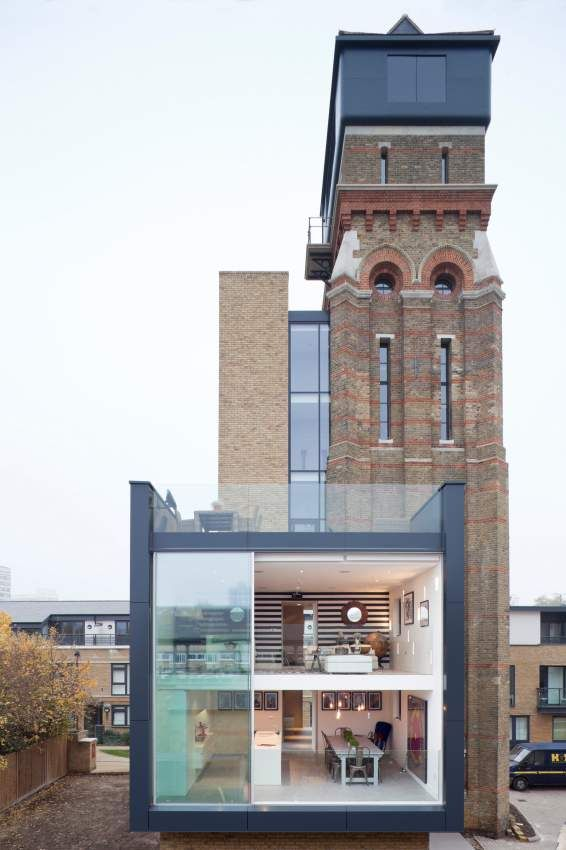 Een negentiende-eeuwse toren getransformeerd tot droomhuis