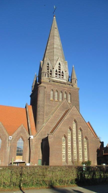 De Sint-Theodarduskerk in Beringen is een van de vijf mijnkathedralen van Limburg. Een deel van haar unieke glas-in-betonramen wordt momenteel gerestaureerd.