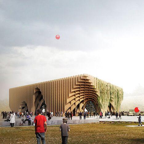 Het Franse paviljoen op Expo 2015
