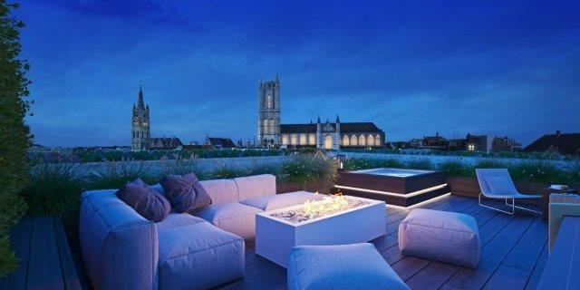 Residentie Kouterdreef biedt enerzijds plaats aan 23 tuinappartementen en anderzijds aan achttien exclusieve wooneenheden: zes Kouterzichtappartementen, negen urban villa's en drie penthouses.