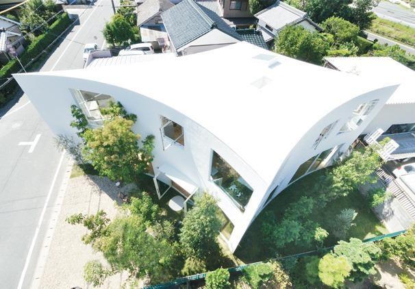 'Forest House' door Studio Velocity, Japan. AR House Awards 2013, categorie 'hoog aanbevolen'