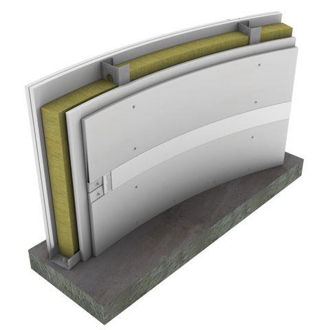 Promat beschikt nu ook over gebogen scheidingswanden met brandweerstand EI 90 aan beide zijden.