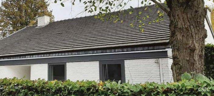 Negatieve esthetische impact van de toename van de afstand tussen de dakgoot en de dakbedekking