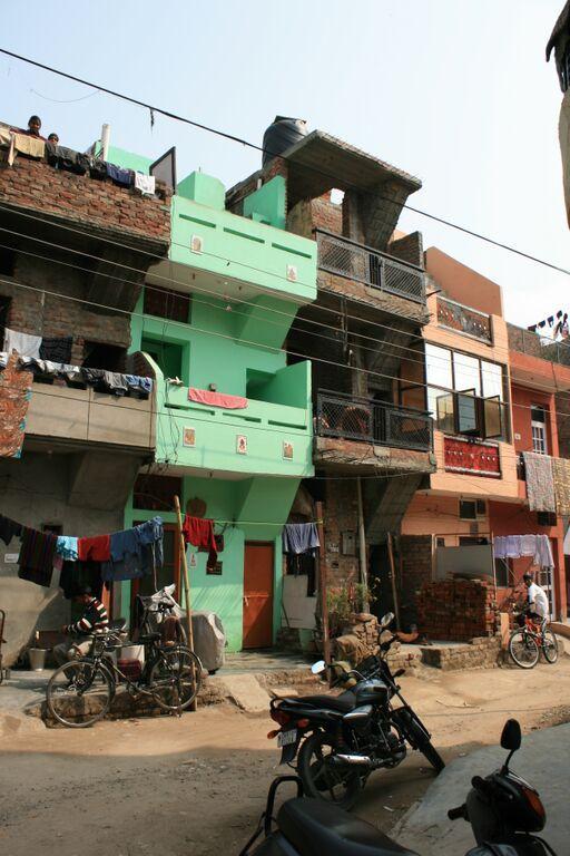 Chandigarh - India - Moderne woonwijk getransformeerd door bewoners