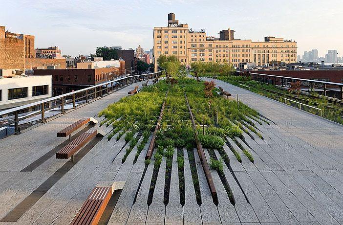De Highline in Manhattan, New York.