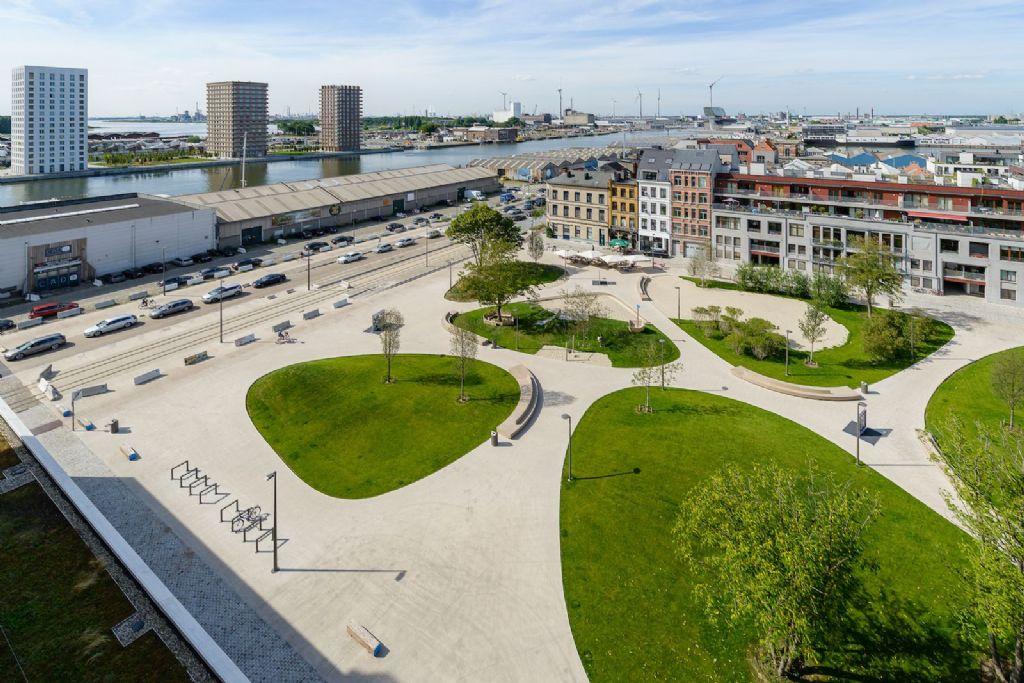 PTArchitecten ontwerpt evolutief parkplein voor Antwerpse nieuwbouwwijk