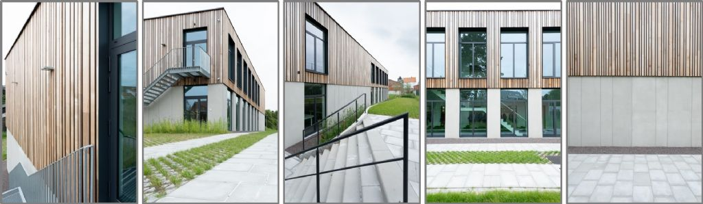 Houten gevelbekleding als meerwaarde voor de architectuur van een schoolgebouw