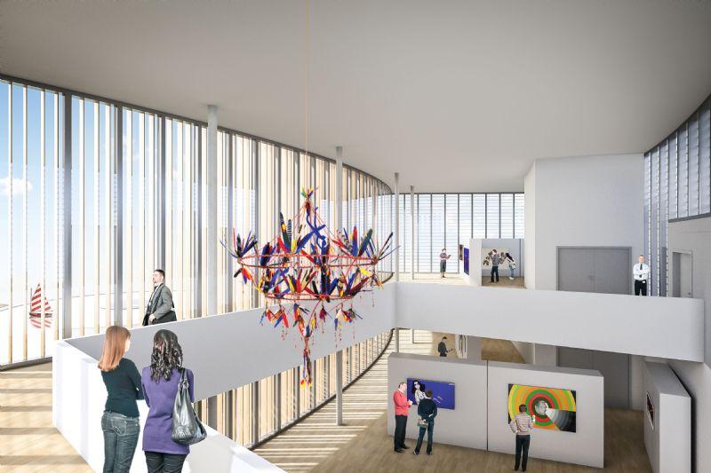 Le projet vise une grande flexibilité d'usage. Ainsi, le cylindre de proue accueille une salle de spectacle polyvalente. Le bâtiment courbe de Bourgeois est quant à lui surmonté d'un nouveau volume permettant l'exposition de pièces de grandes dimensions.