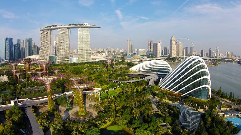 Gardens by the Bay, à Singapour (architectes Wilkinson Eyre et Grant Associates)