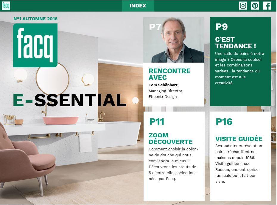 E-ssential, nouveau magazine digital de FACQ pour le B2C et le B2B