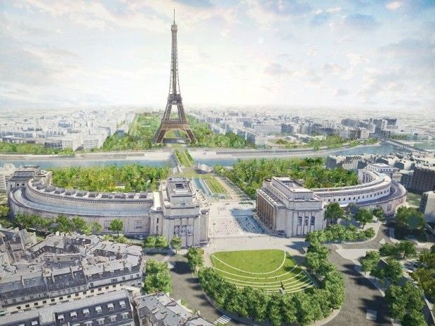 Grand Site Tour Eiffel: groene long in hart van Parijs