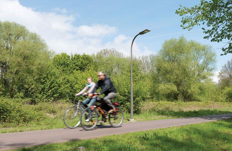 Schréder vernieuwt openbare verlichting langs Ringfietspad