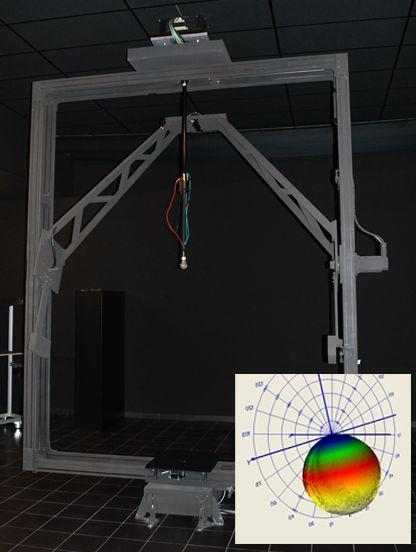 Deze goniofotometer kan de grotere objecten, tot wel 2 meter, onderzoeken.