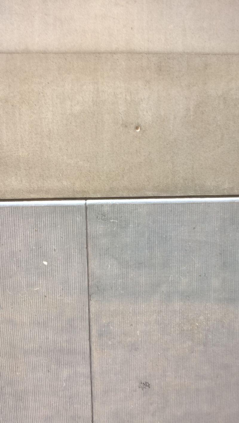 De nieuwe laag beton