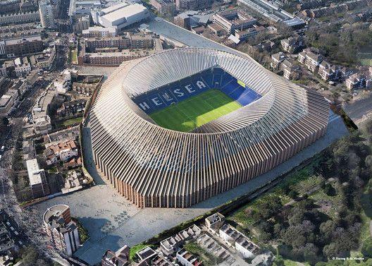 Herzog & de Meuron publie des images du futur stade de Chelsea à Londres