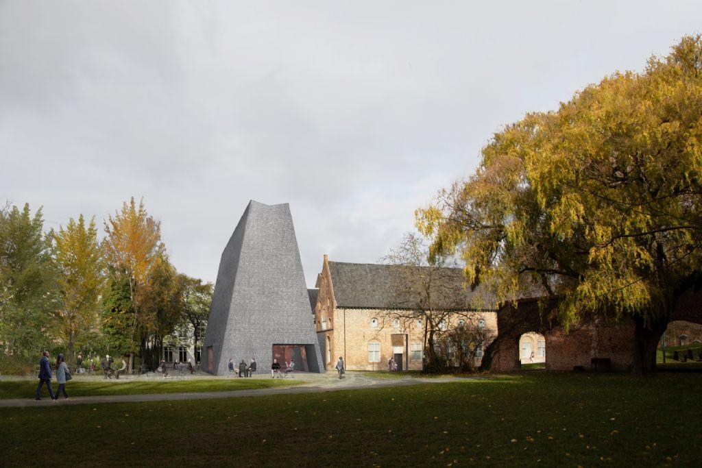 Barozzi Veiga, Tab Architects en Koplamp Architecten ontwerpen nieuwe kunst- en tentoonstellingssite aan Groeningeabdij in Kortrijk