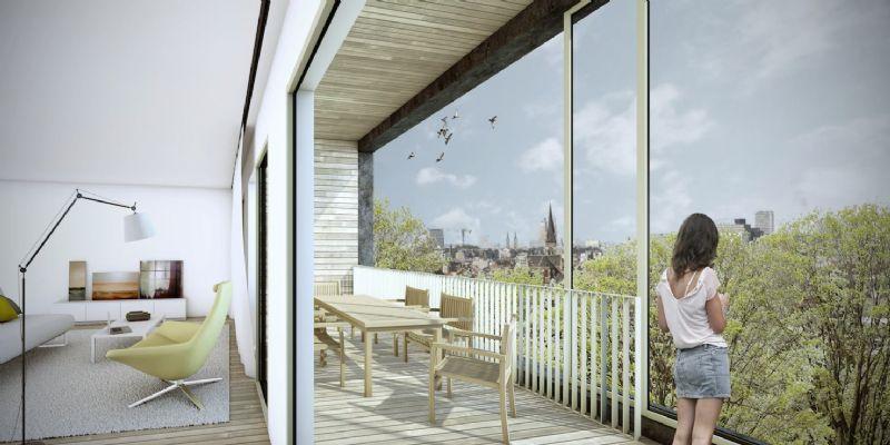 Met zicht op de Schelde en appartementen van 40-160m² heeft het gebouw een bouwbudget van 1250 euro per vierkante meter.