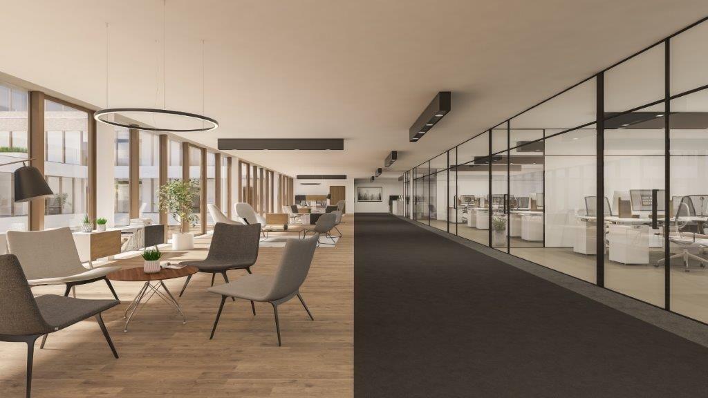 Flexibiliteit is uitermate belangrijk in Kortrijk Business Park. De ruime verdiepingsplateaus kunnen worden opgedeeld in kleinere kantoren van minimum 450 m².