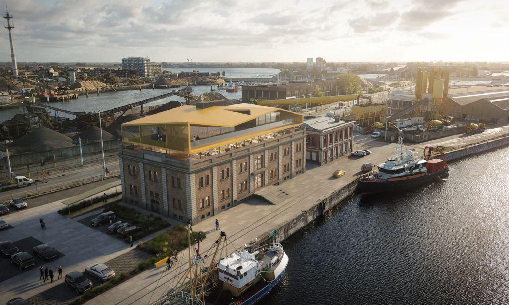 Historisch stapelhuis transformeert tot architecturaal baken voor Oostendse haven (architecten LMS Vermeersch)