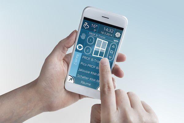 De geautomatiseerde toepassingen kunnen ook vanop afstand worden bediend via een smartphone of tablet.