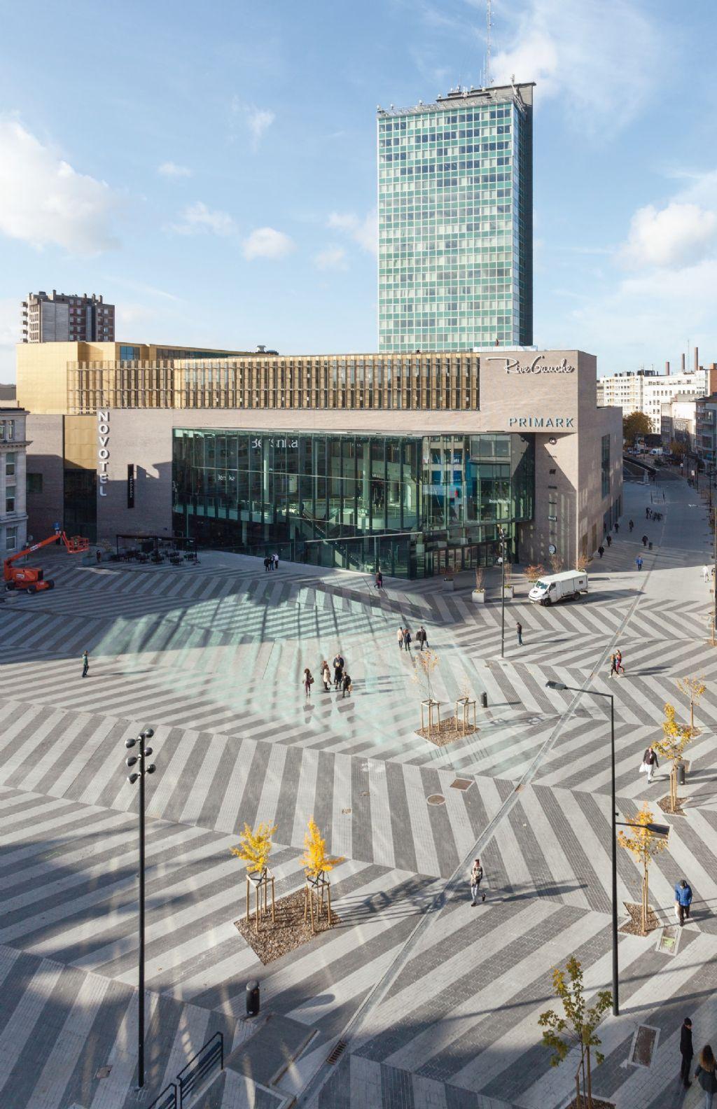 Place Verte à Charleroi (architectes MSA et DDS & partners)