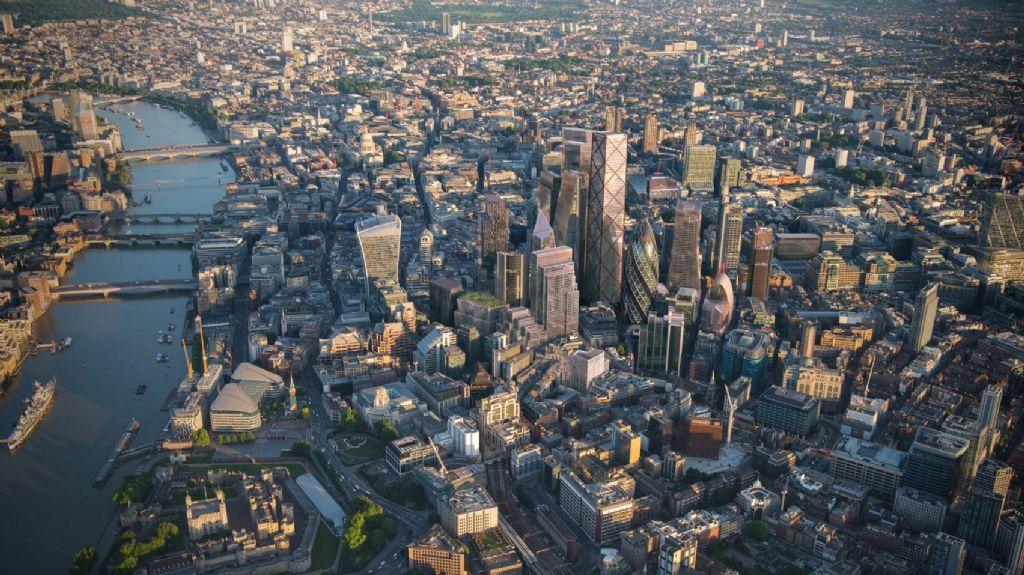 Londense skyline 2026 - rendering