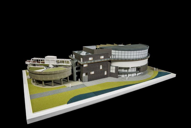 Goedhart Repro klaart 3D-huzarenstukje met maquette TODI-duikcentrum