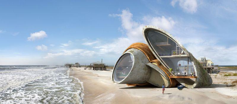 Een strandbunker, of strandhuis?