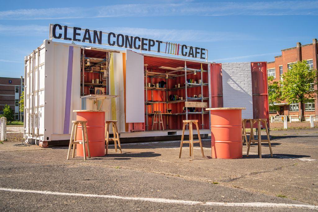 Caparol creëert de schoonste werfbar: het Clean Concept Café