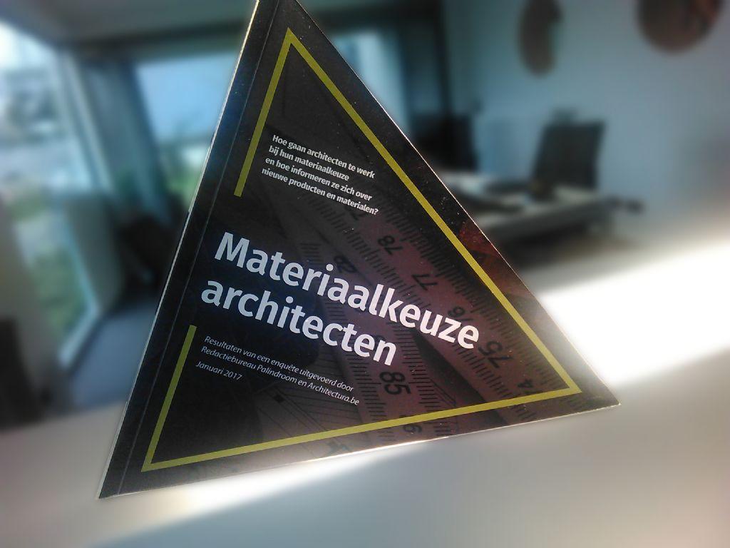 Driehoekige publicatie van Architectura.be geeft inzicht in materiaalkeuze van architecten