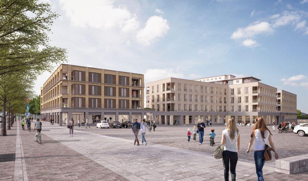 Het ontwerp voor het vernieuwde marktplein in Harelbeke