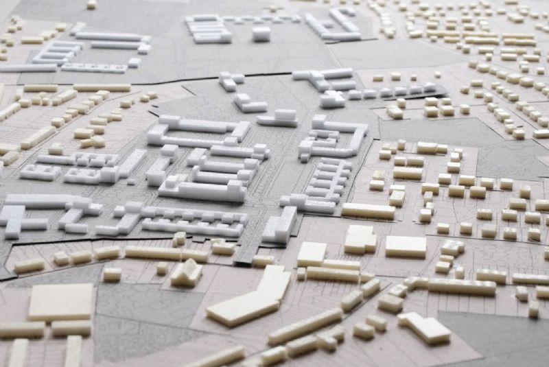 De ruimtelijke schikking van het project.