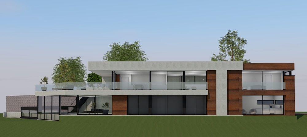 Une habitation privée équipée d'éléments de toiture Unidek Aero TP